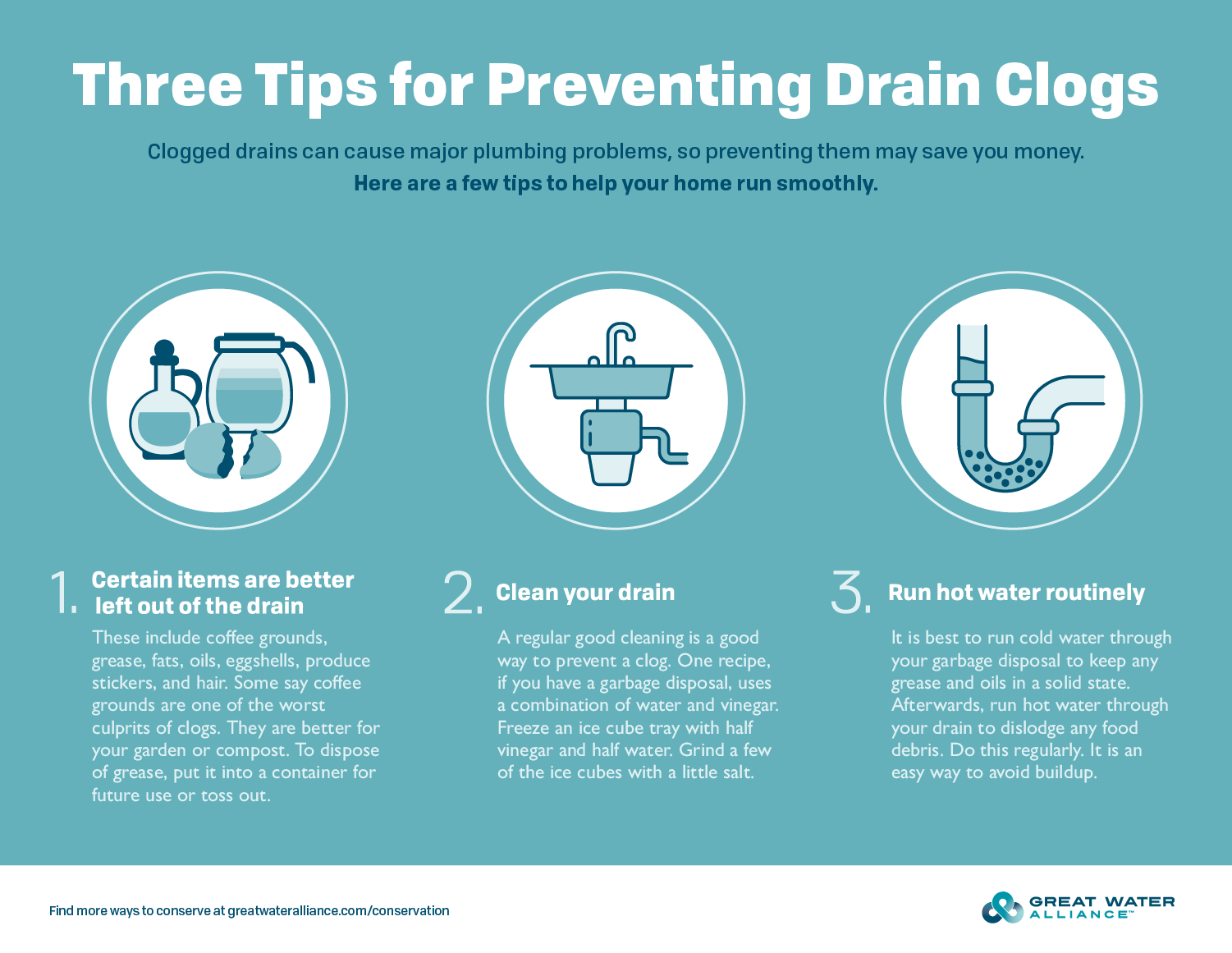 Prevent Clogged Drains - Infographic
