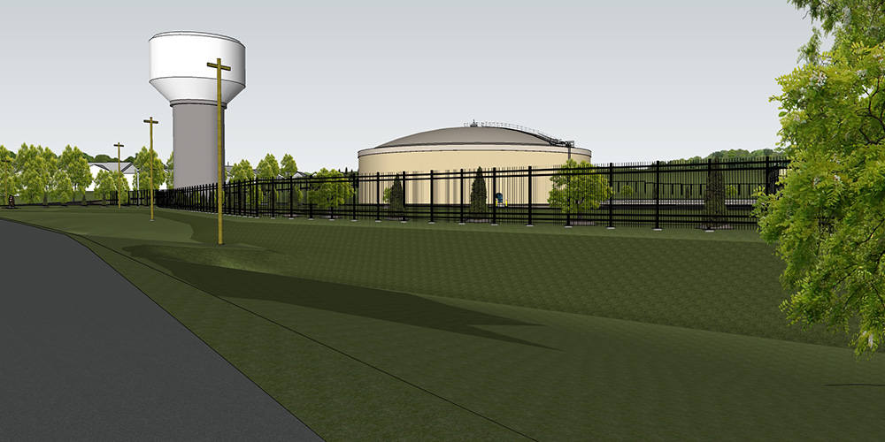 Booster Pumping Station - rendering