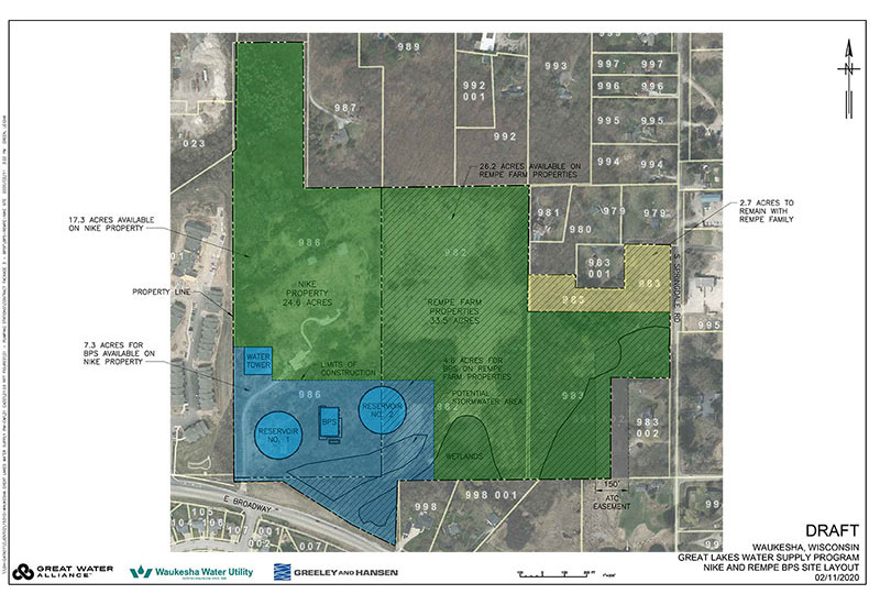 Waukesha Booster Pumping Station Site Map